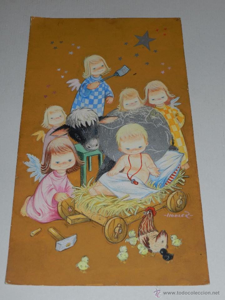 Felicitacion navidad original dibujada por hodl comprar - Postal navidad original ...