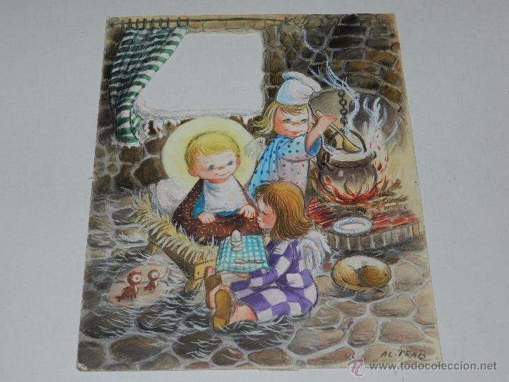 Felicitacion navidad original dibujado por al p comprar - Postal navidad original ...