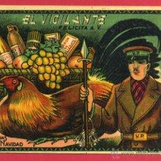 Postales: FELICITACION NAVIDAD , EL VIGILANTE , ORIGINAL ,F351. Lote 49690670