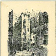 Postales: FELICITACION NAVIDAD 1951 PLAZA DE SAN JUSTO BARCELONA. Lote 174965264