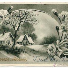 Postales: POSTAL FRANCESA DE FELICITACIÓN NAVIDEÑA - MANUSCRITA SIN CIRCULAR - AÑO 1942. Lote 49966332