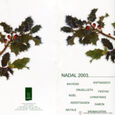 Postales: NAVIDAD, TARJETA POSTAL FELICITACION NAVIDEÑA HOTEL MEDES II - L´ESTARTIT, GIRONA. Lote 50061654