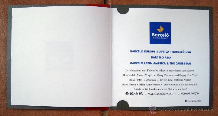 Postales: Navidad, tarjeta postal felicitacion navideña hotel, barcelo hotels & resorts 2001 - Foto 3 - 50069657