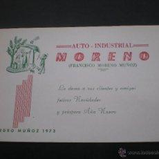 Postales: FELICITACION NAVIDAD, AUTO INDUSTRIAL, PEDRO MUÑOZ, CIUDAD REAL, 1973. Lote 50473088
