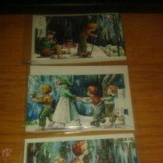 Postales: LOTE FELICITACIONES NAVIDAD ANTIGUAS. Lote 50482064