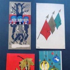 Postales: 4 TARJETAS DE NAVIDAD AÑOS 50 / BELARDE - BARBARA - J. FERRER - . Lote 51048639