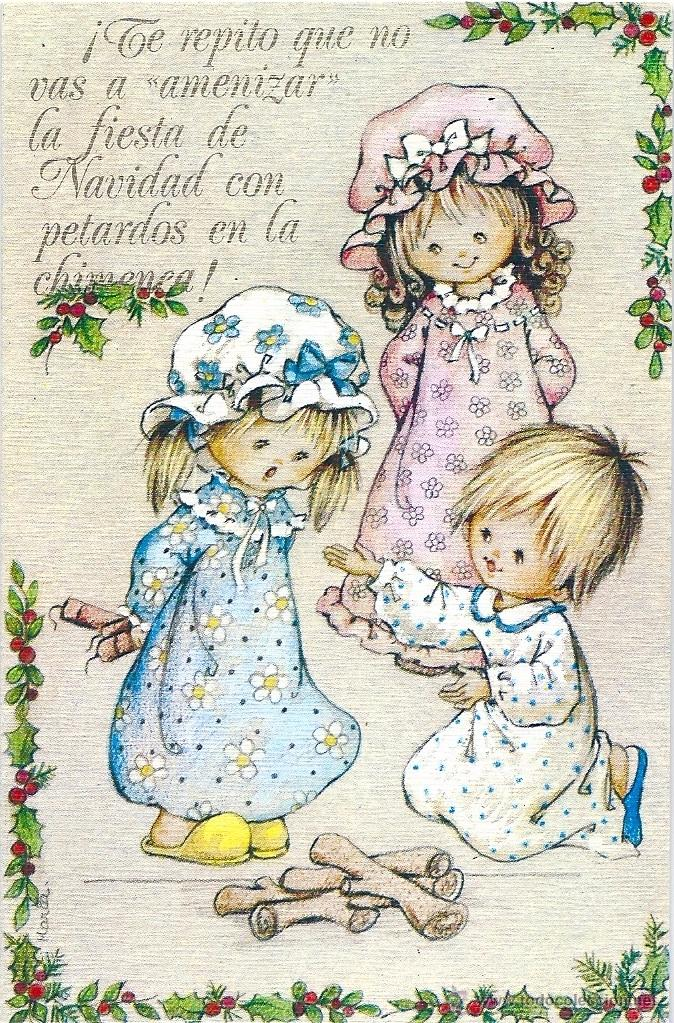 0985G - EDICIONES ORTIZ MADRID- SERIE X116- DIPTICA 13X8,5 CM - ILUSTRA MARIA (Postales - Postales Temáticas - Navidad)