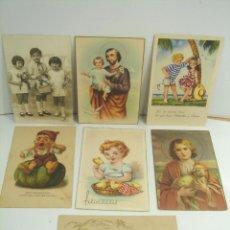 Postales: 7 X TARJETA POSTAL - NIÑOS FELICIDADES NAVIDAD PD - AÑOS 1920 1950 - ESCRITAS. Lote 51152214