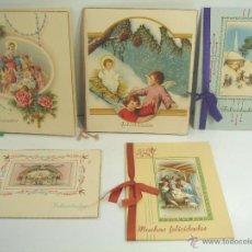 Postales: 5 X TARJETA POSTAL DOBLE - NAVIDAD NAVIDADES FELICIDADES FELICITACIONES - 1946 1949 - ESCRITAS. Lote 51152315
