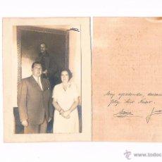 Postales: TARJETA CON FOTOGRAFÍA AGRADECIMIENTO FELICITACIÓN AÑO NUEVO CONDES DE BARCELONA JUAN DE BORBÓN JM. Lote 51228064