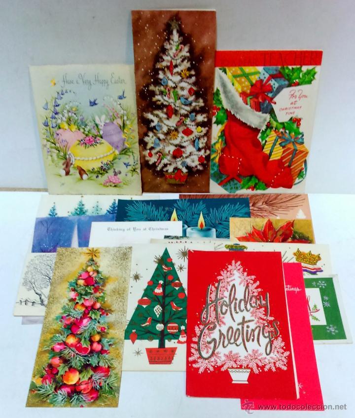 Lote 17 postal tarjeta felicitacion navidad d comprar - Tarjetas felicitacion navidad ...