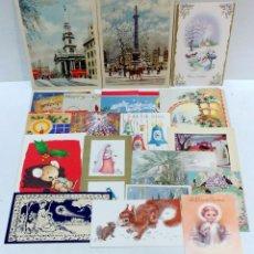 Postales: LOTE 19 POSTALES - FELICITACIONES NAVIDAD INGLESAS AÑOS 50 , 60. VER. Lote 51594661