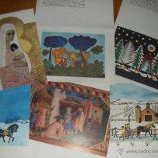 Postales: 6 POSTALES NAVIDEÑAS DE UNICEF, USADAS.. Lote 51654752