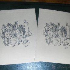Postales: 2 TARJETAS NAVIDEÑAS SIN USAR, AÑOS 70.. Lote 51945981