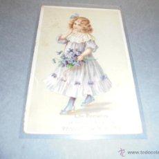 Postales: LOS PORTEROS FELICITAN Á VDES LAS PASCUAS DE NAVIDAD . 14X9 CM. 1917 - SEÑALES DE USO. Lote 52385105