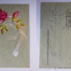 Postales: ANTIGUAL POSTAL EN RELIEVE : FELICITACIÓN AÑO 1906. Lote 52474582