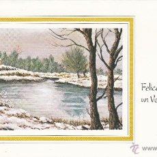 Postales: POSTAL NAVIDAD - FELICITACION NAVIDEÑA DOBLE - PINTADO CON LA BOCA - ED ARTIS MUTI - NUEVA SIN USAR . Lote 52507514