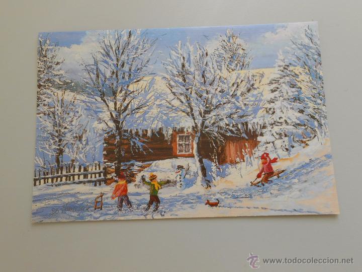Postal juegos de navidad original pintado por comprar - Postal navidad original ...