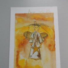 Postales: POSTAL ANGEL DE NAVIDAD. ORIGINAL PINTADO POR MARKUS KOLP. PINTOR CON LA BOCA. TDKP6. Lote 52702222