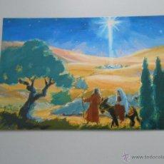 Postales: POSTAL HACIA EL PORTAL DE BELEN. ORIGINAL PINTADO POR RUTH CHRISTENSEN. PINTORA CON LA BOCA. TDKP6. Lote 52702245