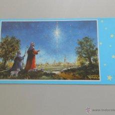 Postales: POSTAL ANUNCIACION. ORIGINAL PINTADO CON LA BOCA. ARTIS MUTI. TDKP6. Lote 52702351