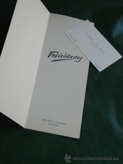 Postales: ANTIGUA FELICITACION NAVIDAD - M.LLUCH - HOTEL PARIS MADRID 1962 - INCLUYE TARJETA DIRECTOR - Foto 2 - 53027913