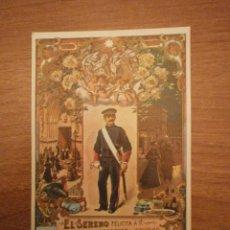 Postales: FELICITACION EL SERENO FELICES PASCUAS 1970. Lote 53277407