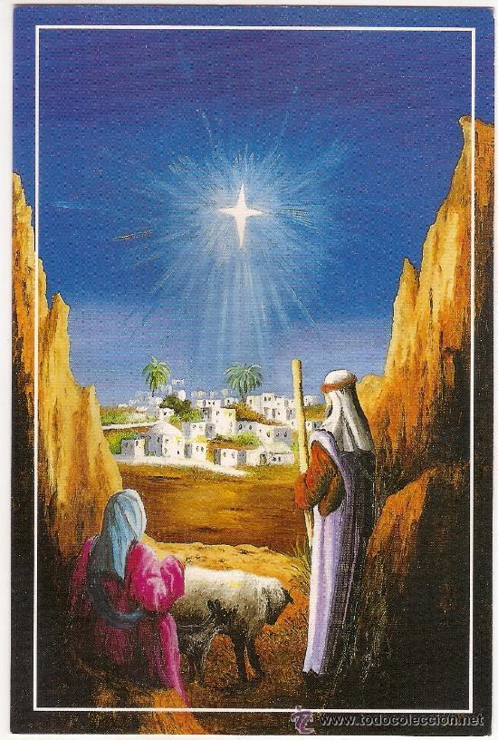 45477 postal navidad dibujo portal de belen y comprar - Portales de belen originales ...