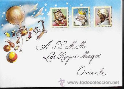 SOBRE PARA CARTA A LOS REYES MAGOS - AÑOS 80 ( VACÍO ) (Postales - Postales Temáticas - Navidad)
