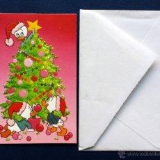 Postales: POSTAL NAVIDAD LOS SOBRINOS DE TIO GILITO : JUANITO JORGITO Y JAIMITO CERRADA 13 X 8,5 CM. Lote 53488412