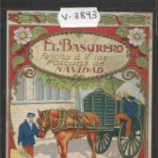 Postales: EL BASURERO - FELICITACION ANTIGUA - (V-3843). Lote 53614258