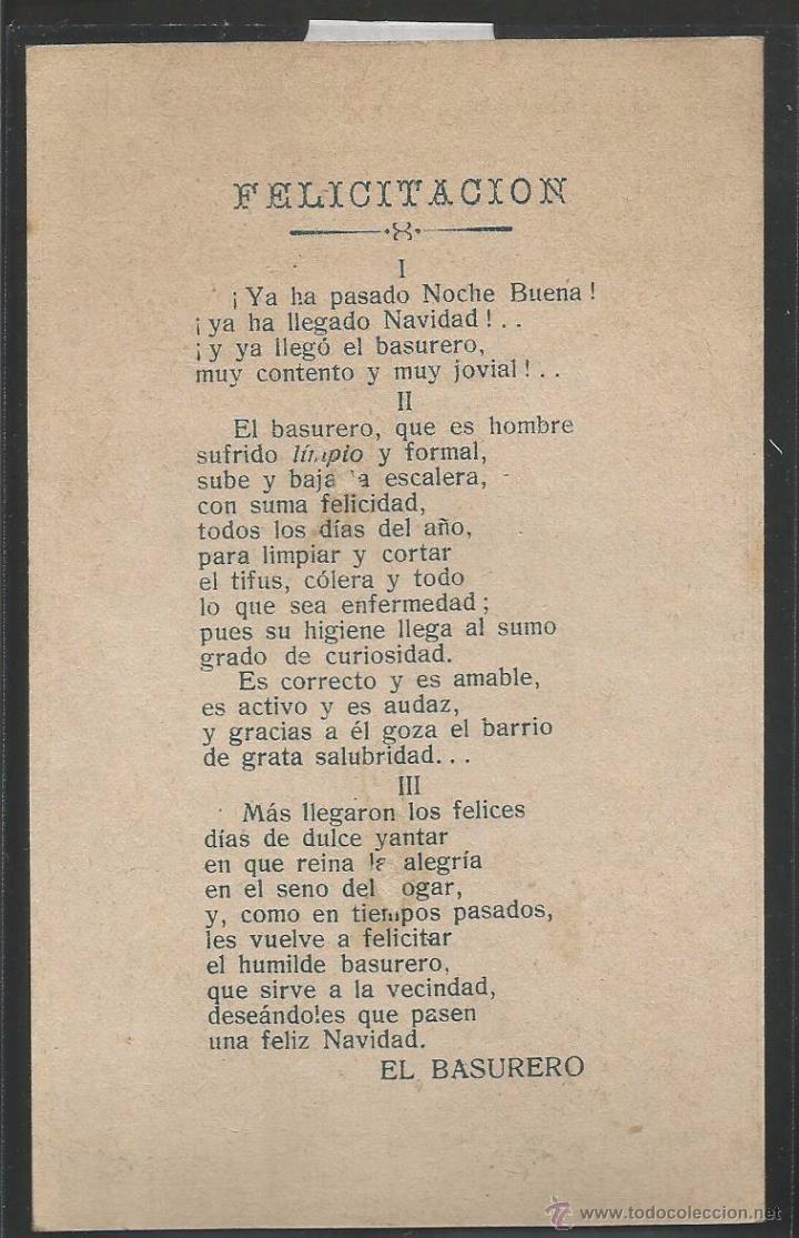 Postales: EL BASURERO - FELICITACION ANTIGUA - (V-3843) - Foto 2 - 53614258