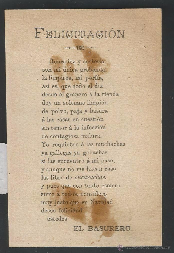 Postales: EL BASURERO - FELICITACION ANTIGUA - (V-3844) - Foto 2 - 53614268