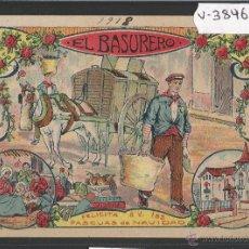 Postales: EL BASURERO - FELICITACION ANTIGUA - (V-3846). Lote 53614288