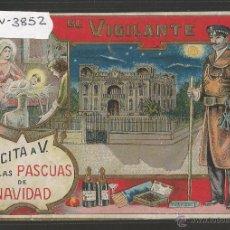 Postales: EL VIGILANTE - FELICITACION ANTIGUA - (V-3852). Lote 53614333