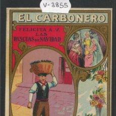 Postales: EL CARBONERO - FELICITACION ANTIGUA - (V-3855). Lote 53614385