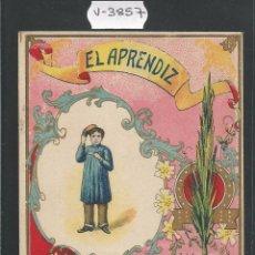 Postales: EL APRENDIZ - FELICITACION ANTIGUA - (V-3857). Lote 53614419
