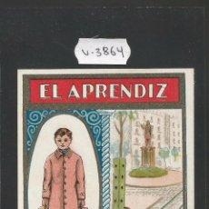 Postales: EL APRENDIZ - FELICITACION ANTIGUA - (V-3864). Lote 53614497
