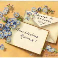 Postales: POSTAL FELICITACIÓN NAVIDEÑA CURSADA EN AÑO 1960. Lote 53614646