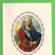 Postales: TARJETA POSTAL - EL REY DON LUIS I - COLECCIÓN CALICÓ (1972). Lote 54668610