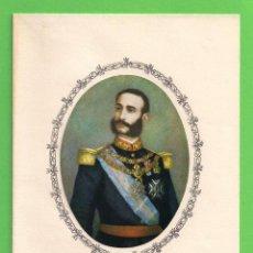 Postales: TARJETA POSTAL - EL REY DON ALFONSO XII - ''EL PACIFICADOR O EL RESTAURADOR'' - COLECCIÓN CALICÓ.. Lote 54668965