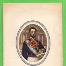 Postales: TARJETA POSTAL - EL REY DON AMADEO I - COLECCIÓN CALICÓ. (1973).. Lote 54669126