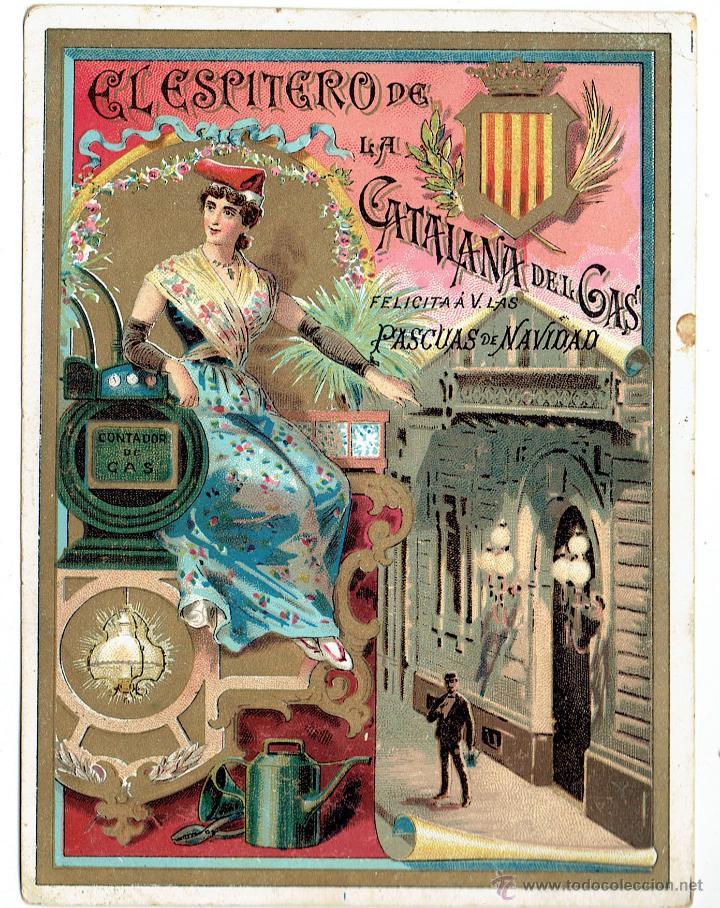 PS6195 GREMIOS. FELICITACIÓN NAVIDEÑA DEL ESPITERO DE LA CATALANA DEL GAS. BARCELONA. PRINC. S. XX (Postales - Postales Temáticas - Navidad)