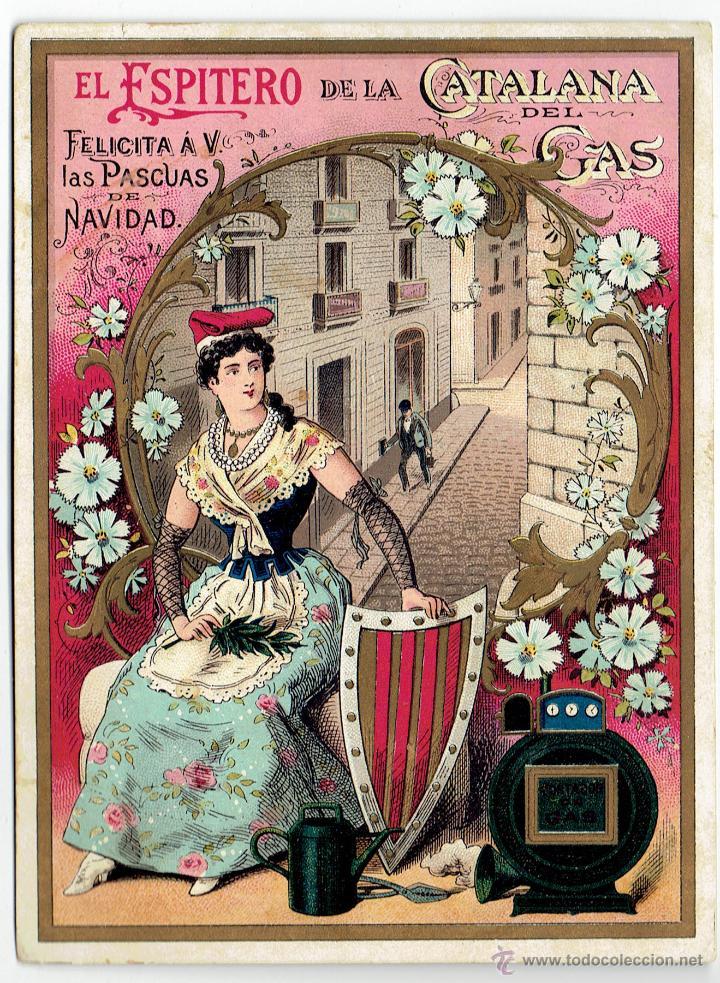 PS6197 GREMIOS. FELICITACIÓN NAVIDEÑA DEL ESPITERO DE LA CATALANA DEL GAS. BARCELONA. PRINC. S. XX (Postales - Postales Temáticas - Navidad)