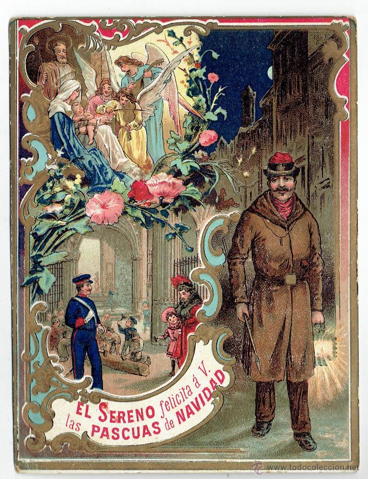 PS6199 GREMIOS. FELICITACIÓN NAVIDEÑA DEL SERENO. ESPAÑA. PRINC. S. XX (Postales - Postales Temáticas - Navidad)