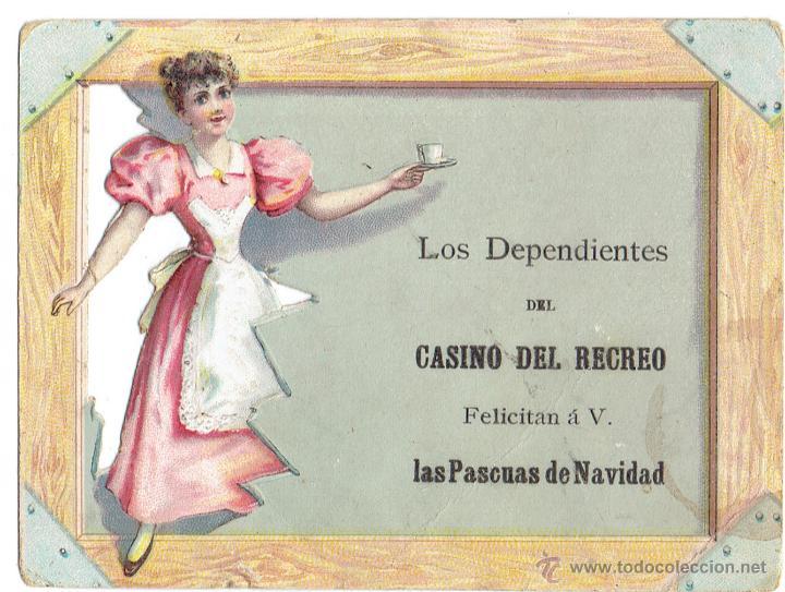 PS5859 GREMIOS. FELICITACIÓN NAVIDEÑA DEPENDIENTES CASINO DEL RECREO. BARCELONA. PRINC. S. XX (Postales - Postales Temáticas - Navidad)