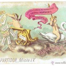 Postales: PS5860 GREMIOS. POSTAL NAVIDEÑA DEL REPARTIDOR. LIBRERÍA GASPAR Y HOMDEDEU. BARCELONA. PRINC. S. XX. Lote 51536711