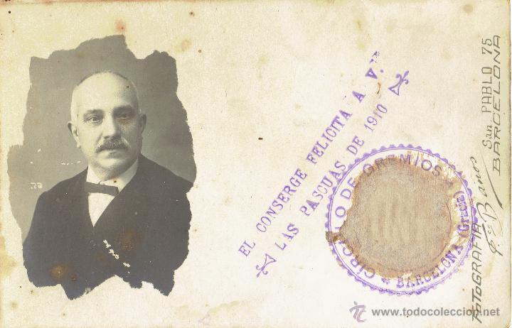 PS4902 GREMIOS - FELICITACIÓN NAVIDEÑA DEL CONSERJE - FOTOGRÁFICA - BARCELONA - 1910 (Postales - Postales Temáticas - Navidad)