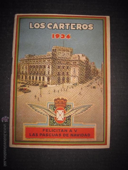 LOS CARTEROS -FELICITACION NAVIDAD - LIBRITO AÑO 1934 - -VER REVERSO - (V-4777) (Postales - Postales Temáticas - Navidad)