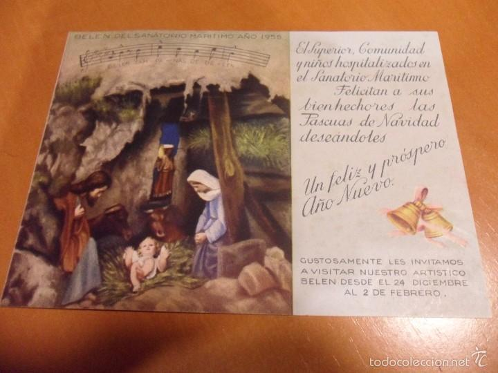 SANATORIO MARITIMO. GIJON. NAVIDAD DE 1956. (Postales - Postales Temáticas - Navidad)